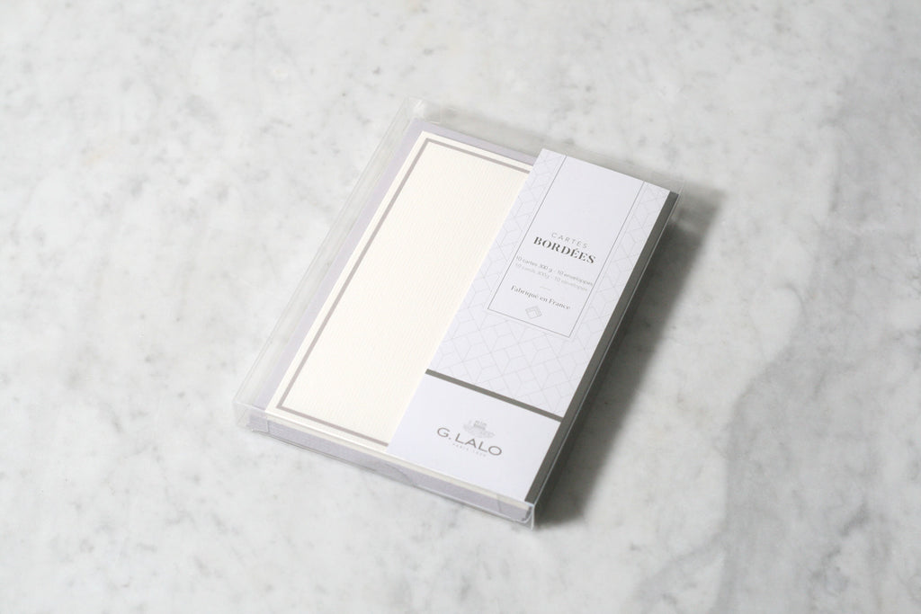 G. Lalo Bordered Correspondence Card Sets, Graphite