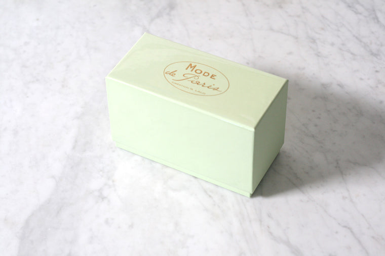 G. Lalo Mode de Paris Boxed Stationery, Pistache