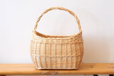 French Wicker Market Basket