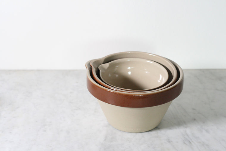 French Stoneware Mixing Bowls