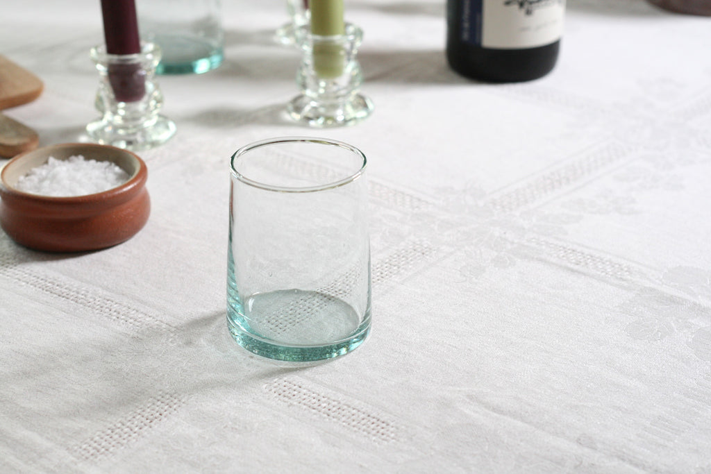 Moroccan Recycled Bottle Wine Tumblers, Set of 6