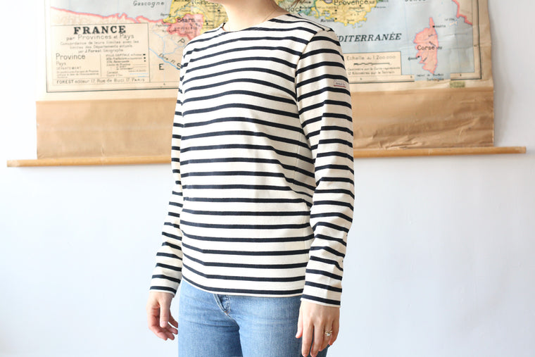 Armor-Lux Striped Marinière Nature with Navy Stripe