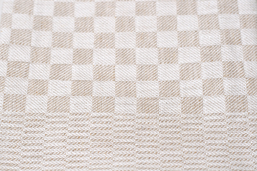 German Checked Linen Dish Towel