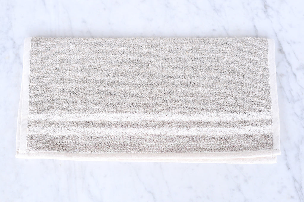 Linen & Cotton Neutral Stripe Towels