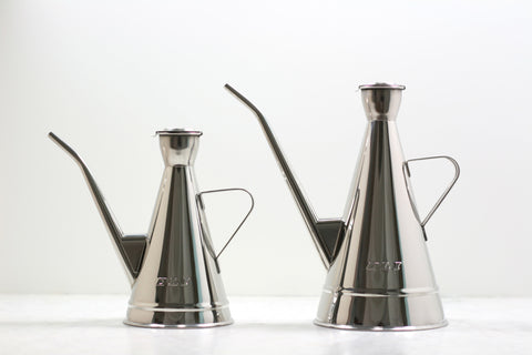 Spanish Stainless Steel Olive Oil Can