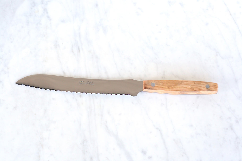 Olivewood Bread Knife. Made in France.