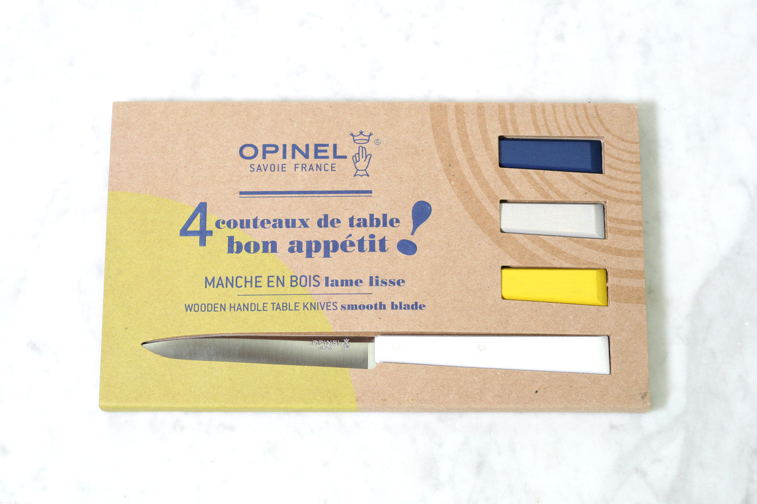Opinel N°125 Bon Appetit Table Steak Knives Celeste