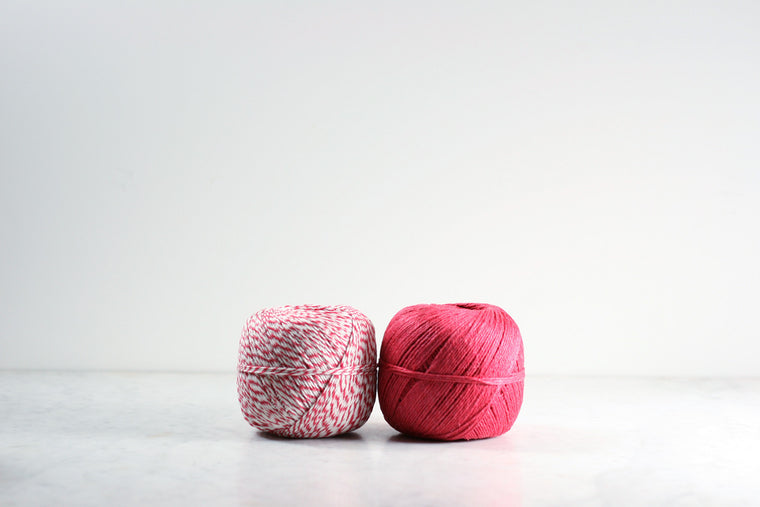 Linen Twine Red