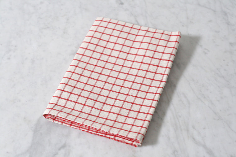 Red and White Checked Dish Towel