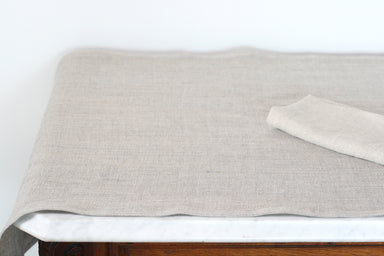 Linen Table Runner in Gypse