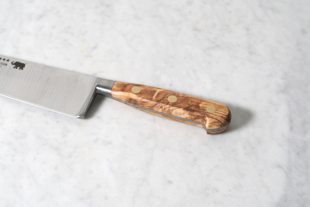 "Sabatier 10"" Chef's Knife Carbone Steel with Olivewood Handle"