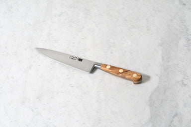 "Sabatier 6"" Chef's Knife Carbon Steel with Olivewood Handle"