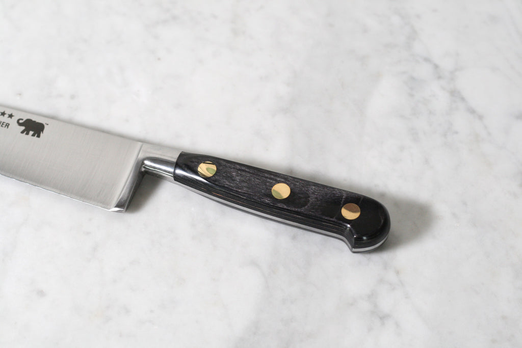 "Sabatier 8"" Chef's Knife Carbone Steel with Grey Stamina Handle"