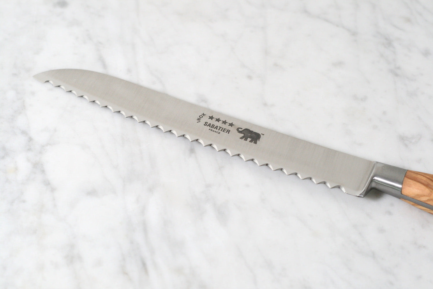 Sabatier Bread Knife with Olivewood Handle
