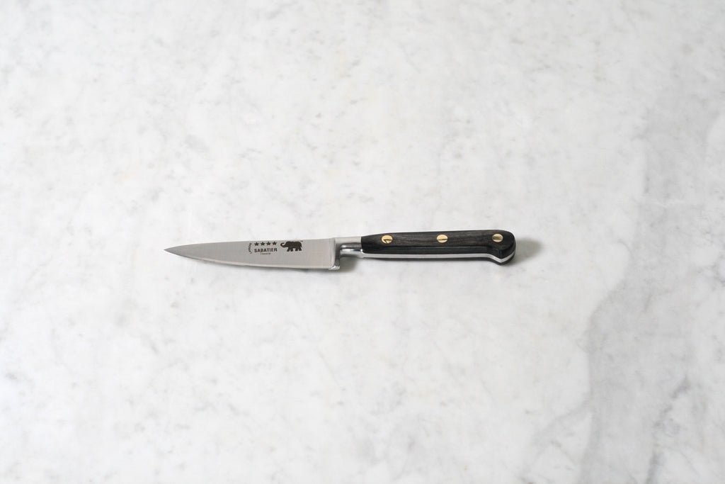 "Sabatier 4"" Paring Knife Carbon Steel with Grey Stamina Handle"