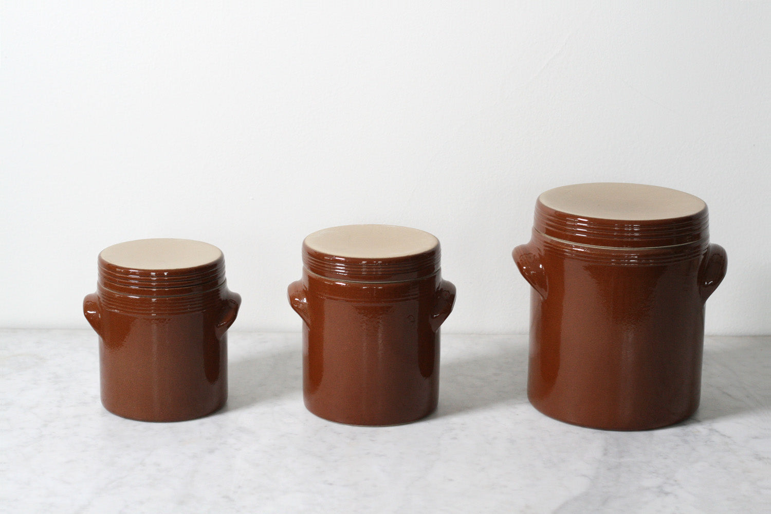 Poterie Renault French Stoneware Storage Jars