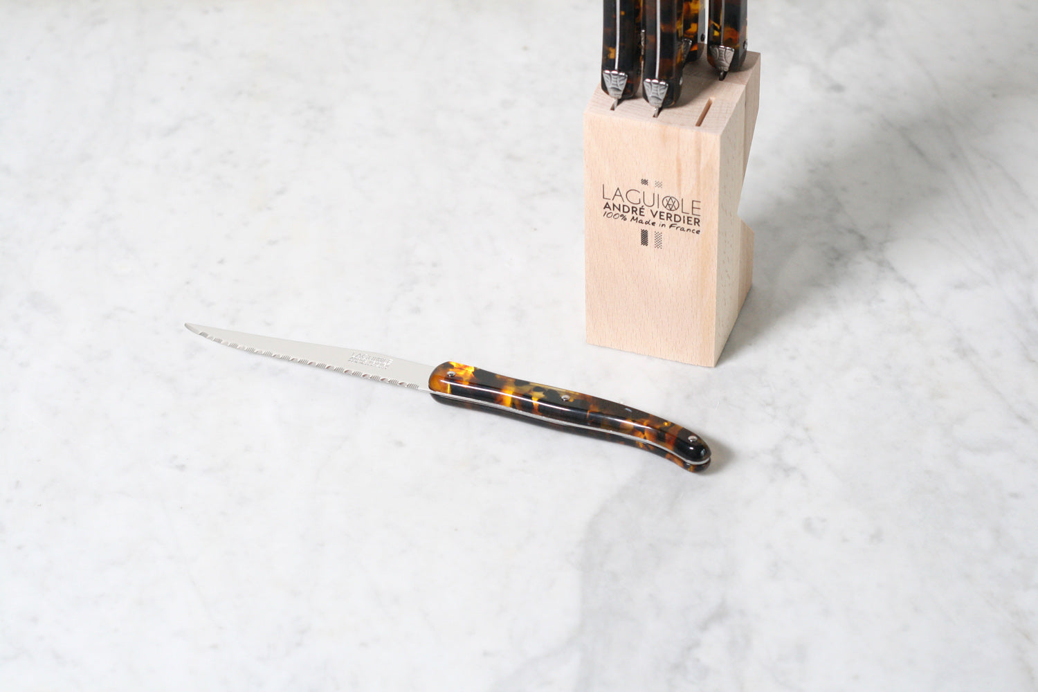 Tortoise Laguiole Steak Knives