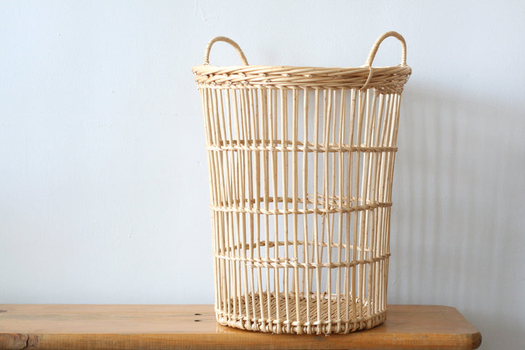 French Wicker Waste Basket