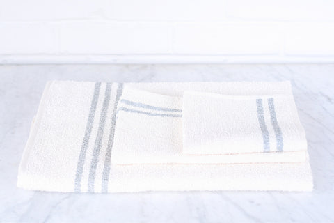 Linen & Cotton White Stripe Towels