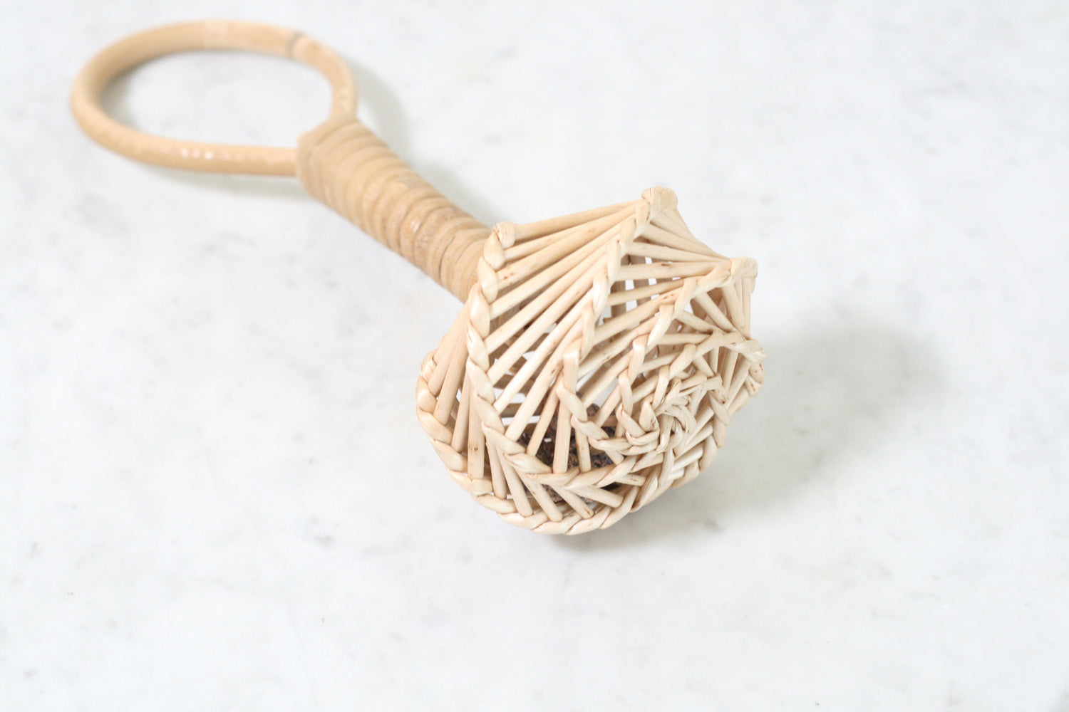 French Wicker Child's Rattle
