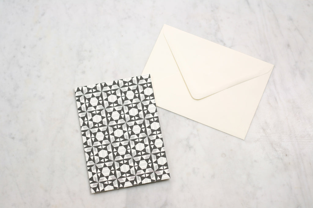 Esme Winter Pattern Note Card Made in England