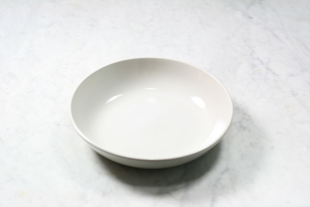 Stoneware soup plate from Poterie Renault. Made in France.