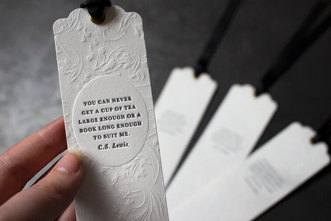 Letterpress Bookmark - C.S Lewis Quote