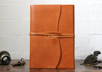 Cavallini Leather Roma Lussa Journal - Brown Large