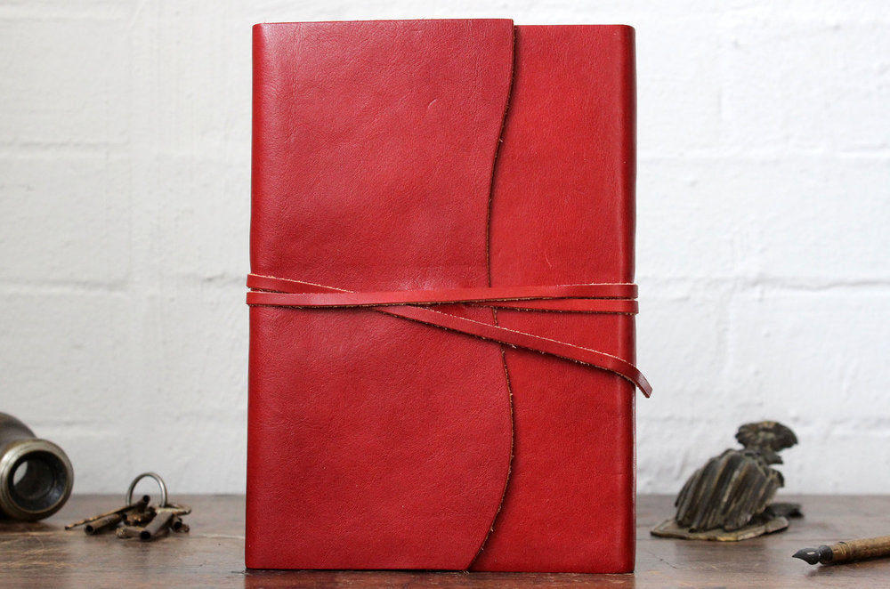 Cavallini Leather Roma Lussa Journal - Red Small