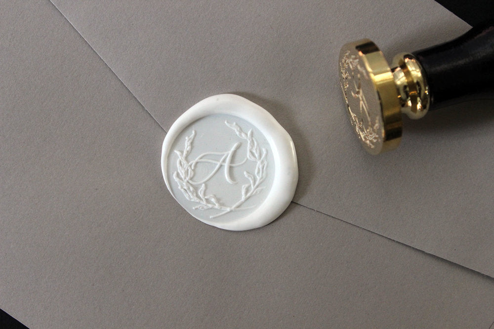 Stamptitude Initial Wax Seal Set - Calligraphy