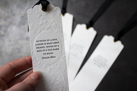 Letterpress Bookmark - Groucho Marx Quote