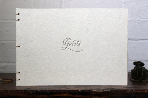 Oblation Coptic Guest Book - Cream