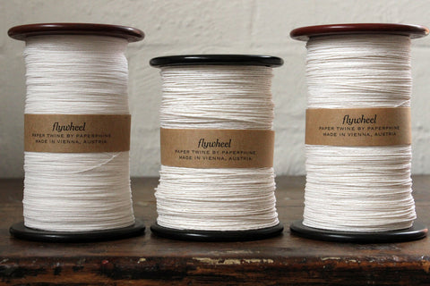 Paperphine Paper twine on Recycled Silk Bobbin - White