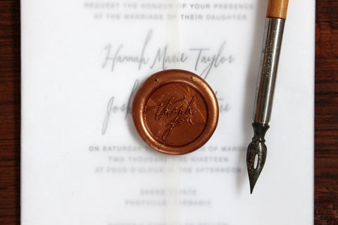 Stamptitude Self-Adhesive Wax Seal - Thank You