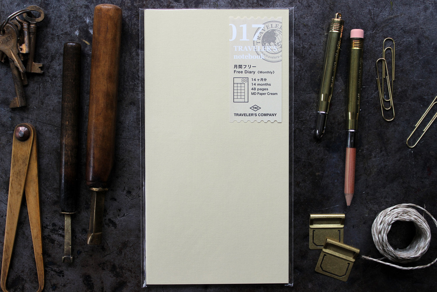 Traveler's Company Regular Notebook Refill - 017 Free Diary Monthly