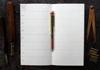Traveler's Company Regular Notebook Refill - 019 Free Diary Weekly + Memo