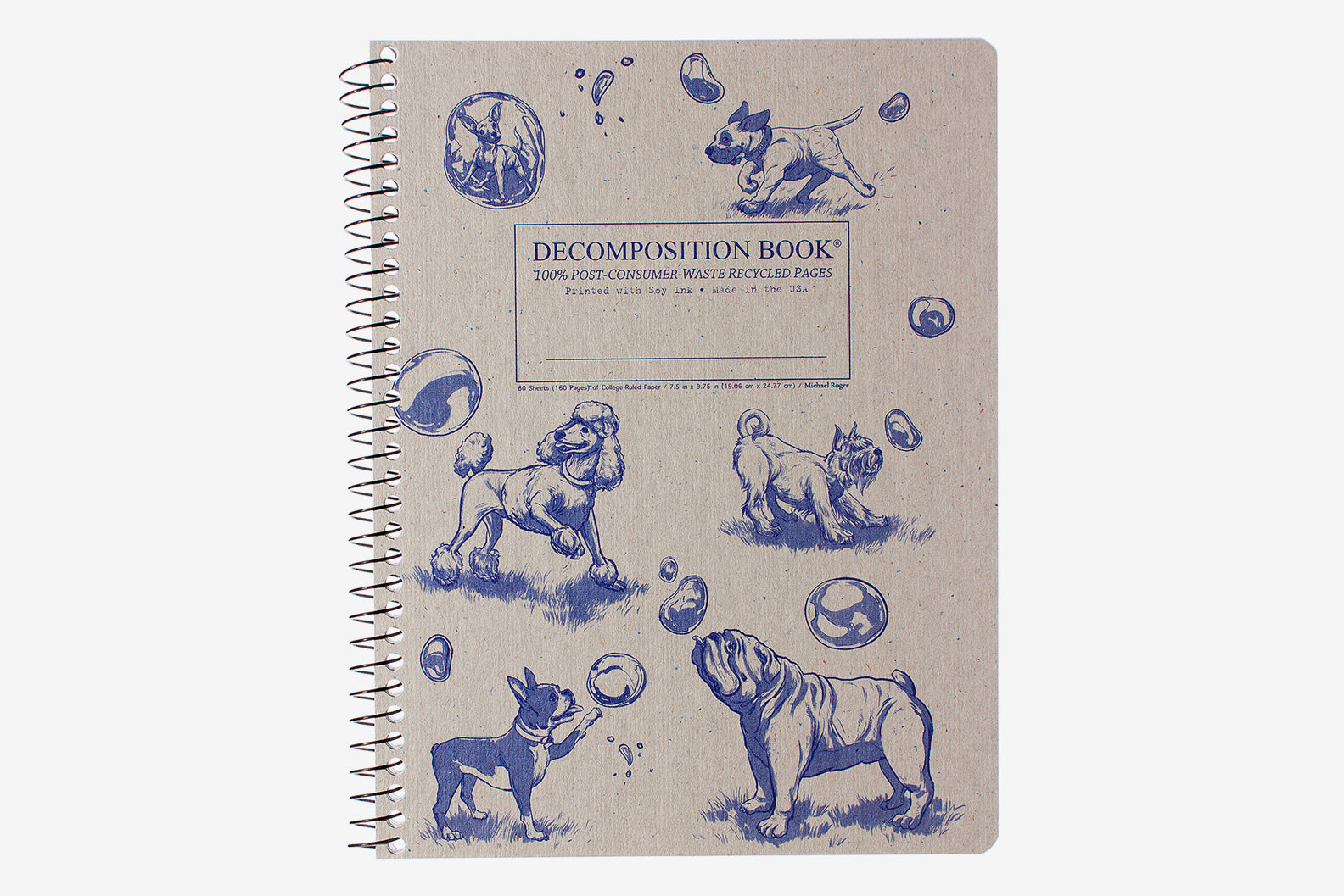 Decomposition Book Large - Dogs and Bubbles