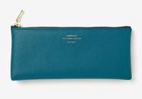 Delfonics Quitterie Flat Pencil Case - Turquoise