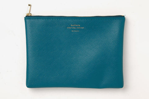 Delfonics Quitterie Medium Pouch  - Turquoise