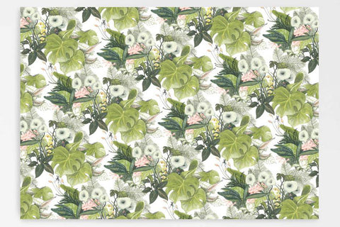 Father Rabbit Gift Wrap - Botanical Jungle