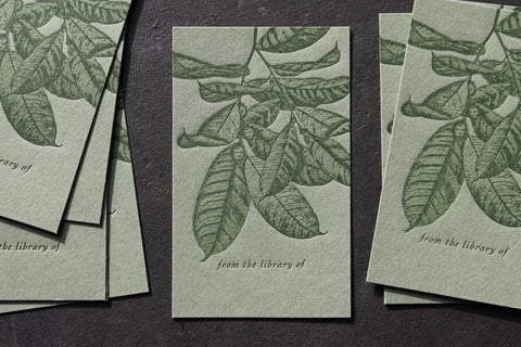 Letterpress Bookplates - Foliage