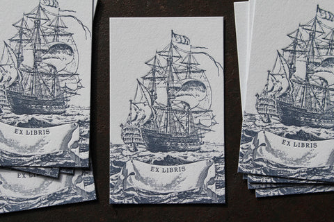 Letterpress Bookplates - Ship