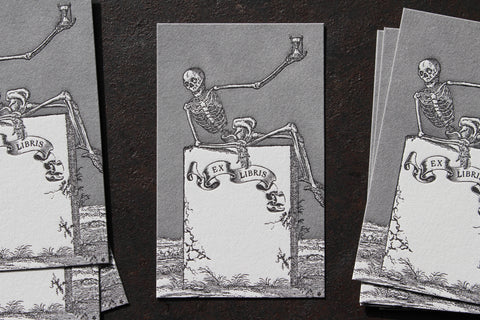 Letterpress Bookplates - Skeleton