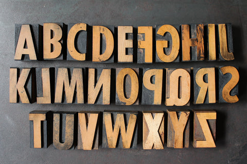 Original Wood Type Alphabet Set - 2
