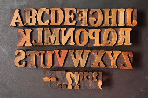 Original Wood Type Alphabet Set - 1