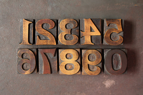 Original Wood Type Number Set - 5