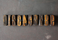 Original Wood Type Number Set - 1