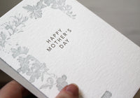 Letterpress Mother's Day Card - Floral Border