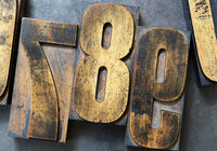 Printer's Wood Type Numbers Set - Large