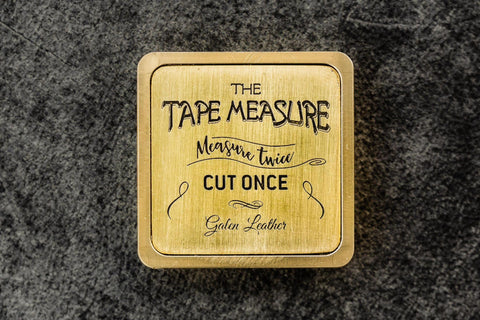 Galen Leather Brass Tape Measure